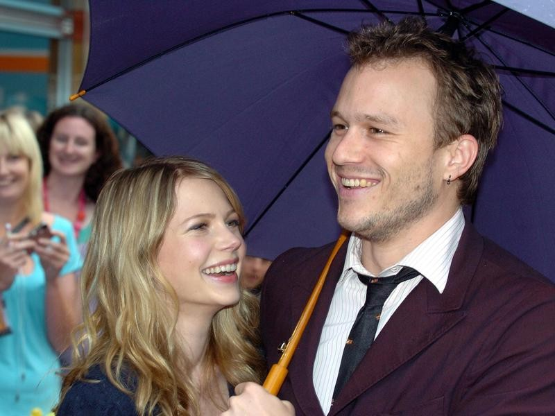 Heath Ledger with Michelle Williams