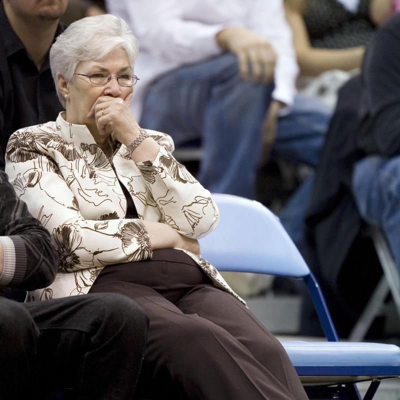 Gail Miller at a Utah Jazz game