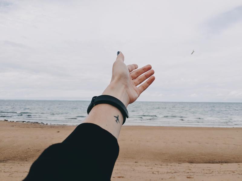 Airplane Tattoo on Wrist