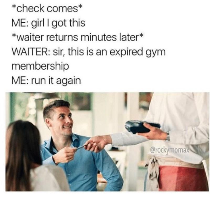 Expired gym membership
