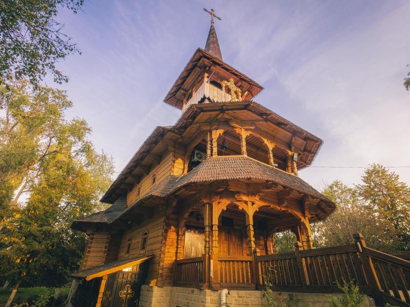 Wooden church in Soroca