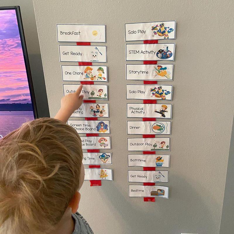 Child choosing their schedule