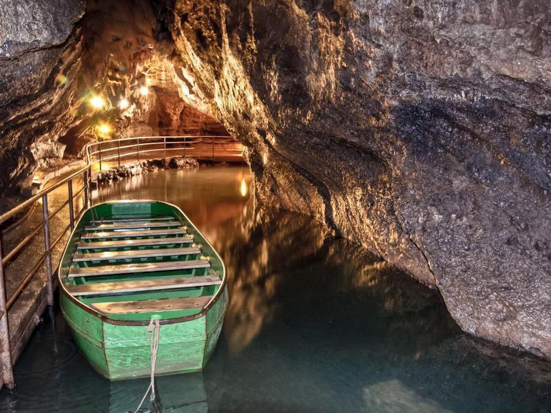 Caves of Remouchamps in Belgium