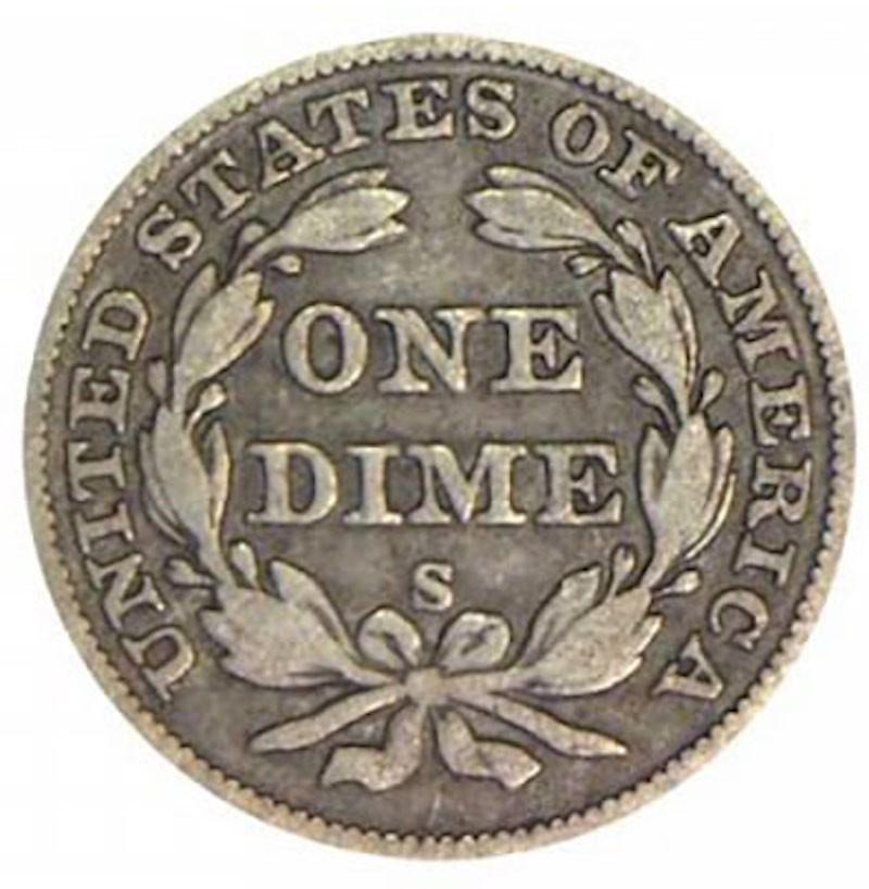1860 O Seated Liberty Dime