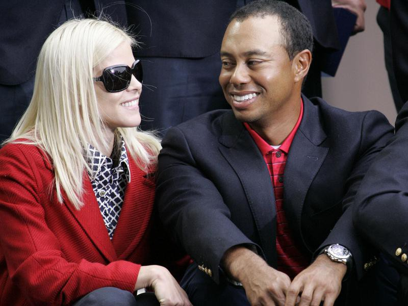 Tiger Woods and Elin Nordegren at the closing ceremonies
