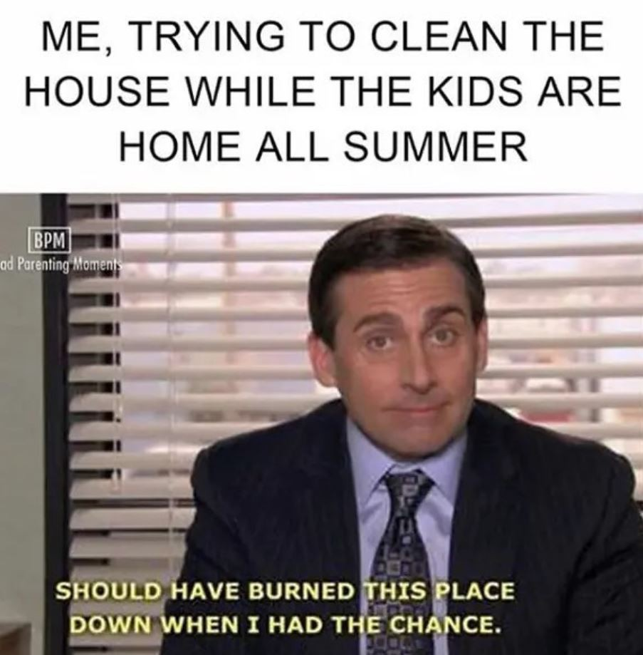 Cleaning the house meme