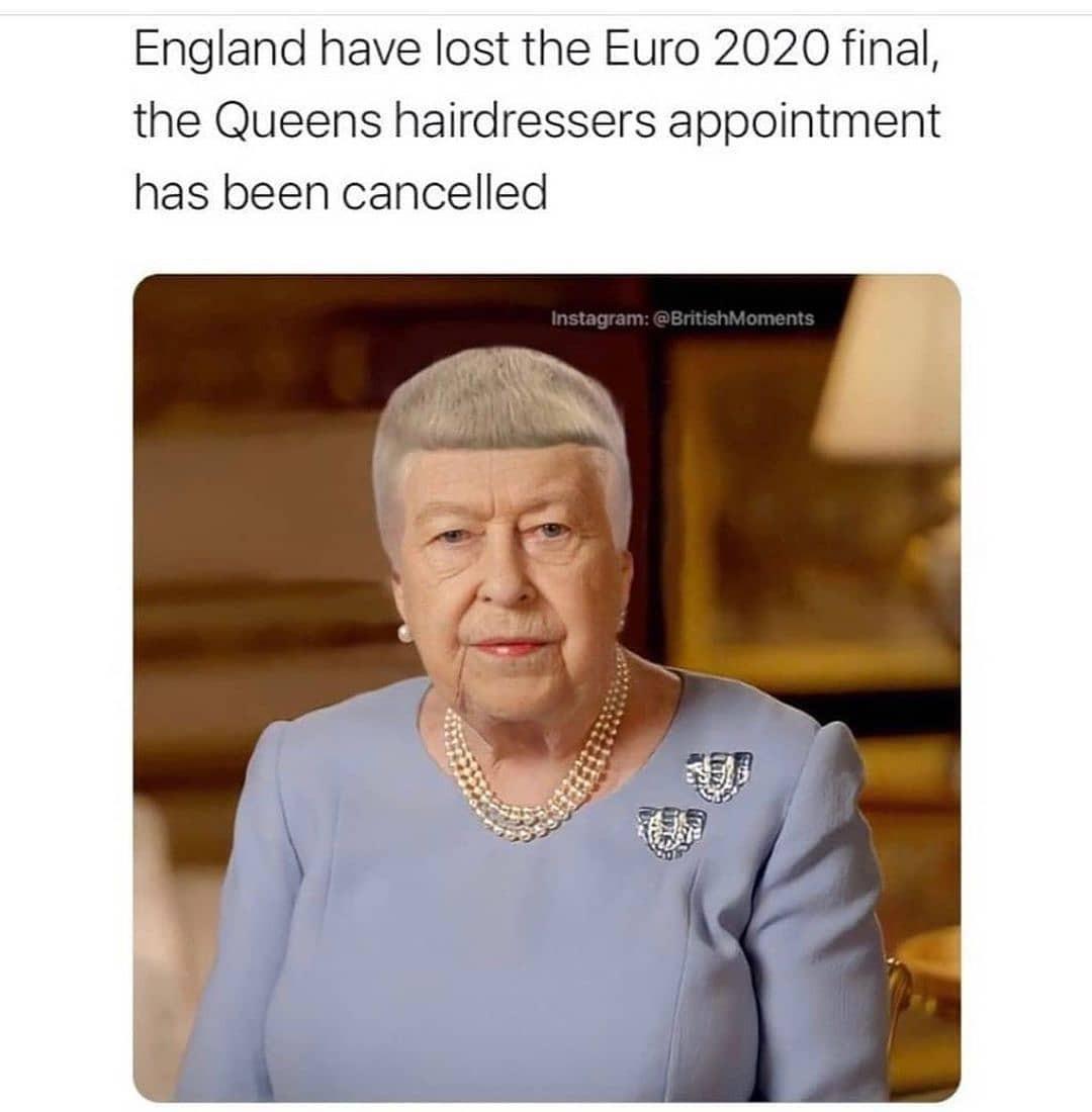 Joke about Queen's haircut