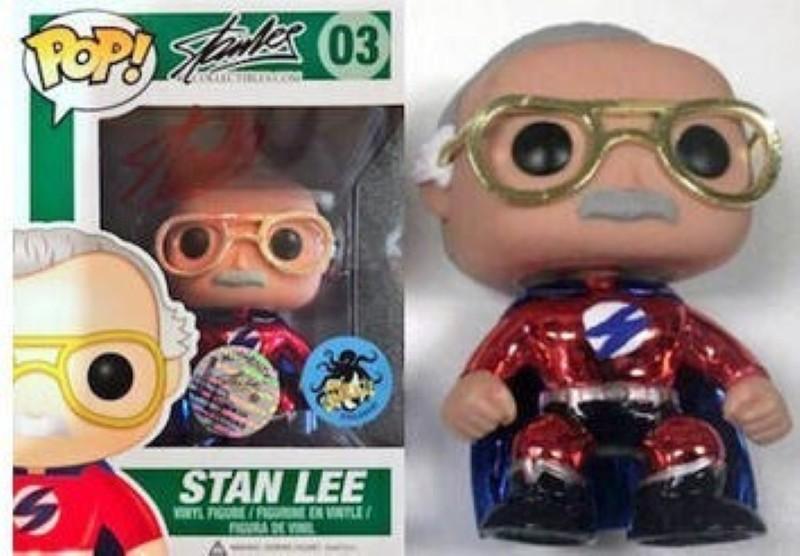 Superhero Stan Lee Red Metallic/Chrome Funko Pop
