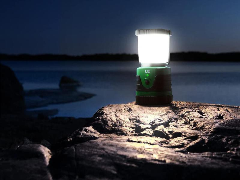 Rechargeable, water resistant camping lantern