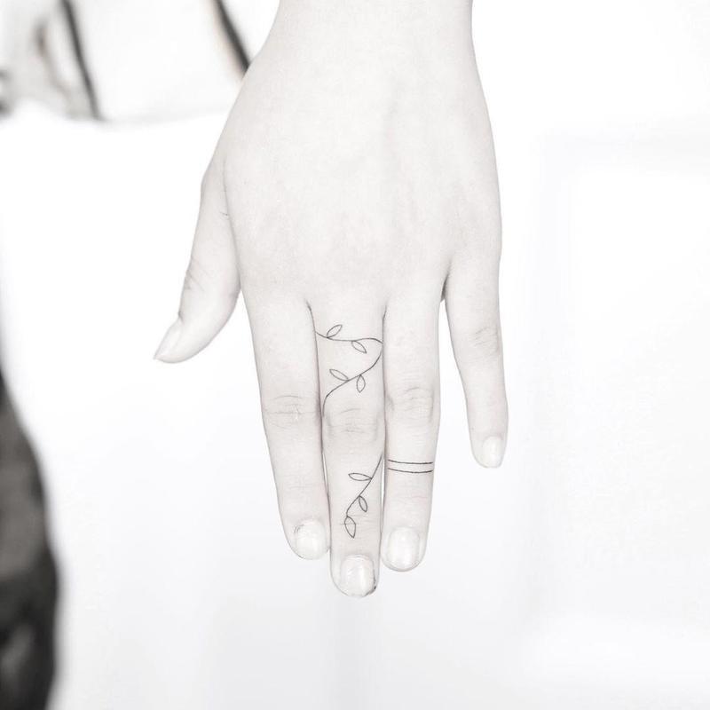 Delicate Vine Tattoo
