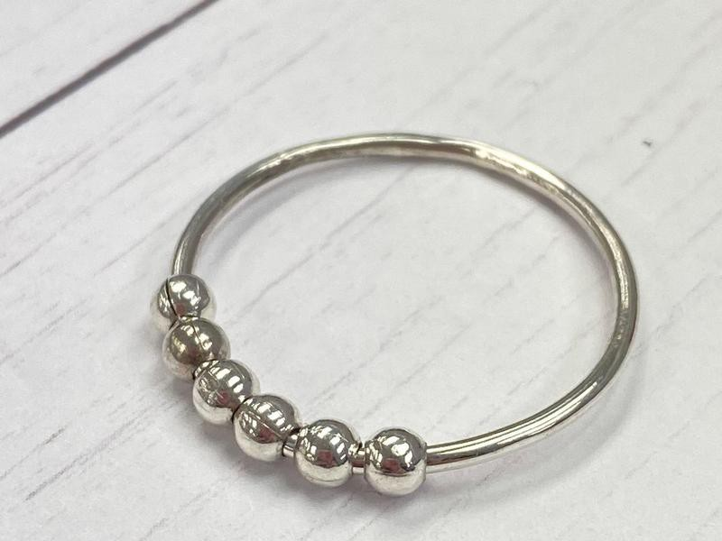 Silver Anxiety Ring for Adults with Anxiety