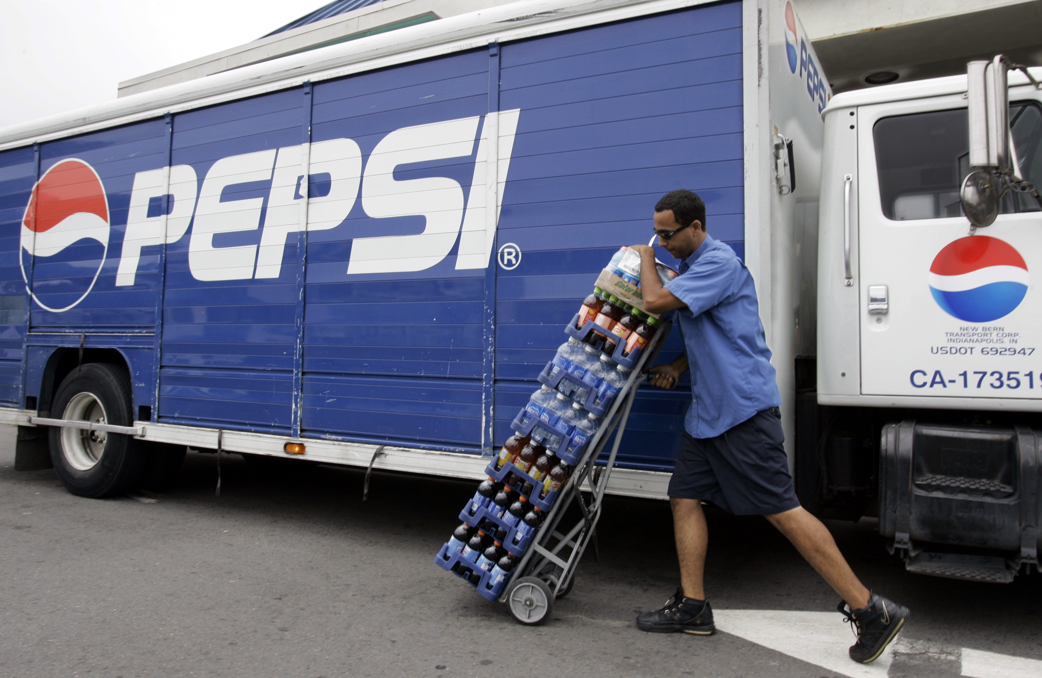 Pepsi delivery worker