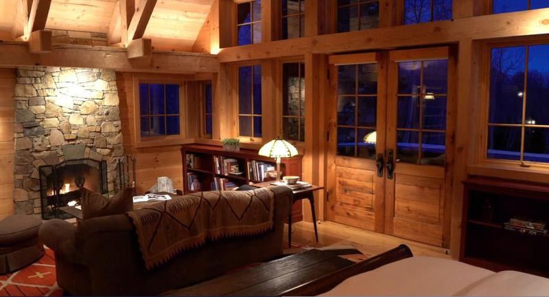 Den in a large ranch home in Telluride