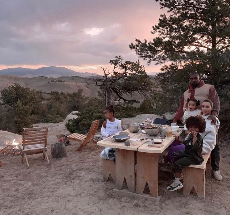 Family dinner in Wyoming