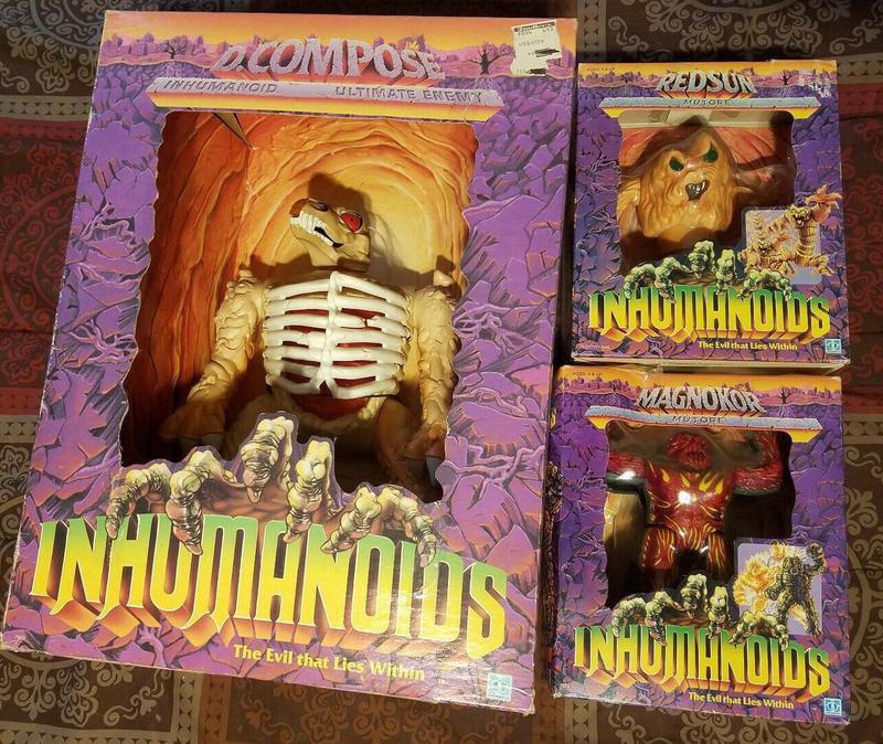Inhumanoids 14-inch action figures