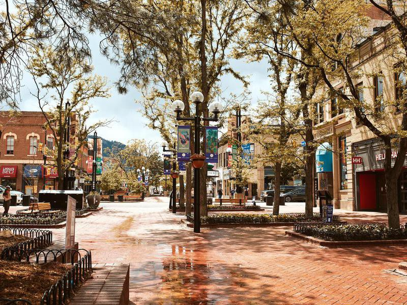 Pearl Street Mall in Boulder, Colordado