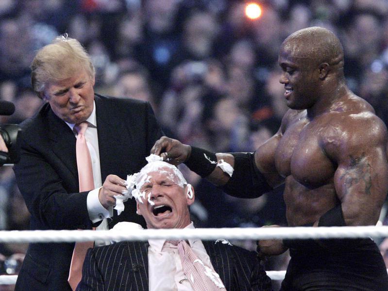 Donald Trump, Vince McMahon and Bobby Lashley