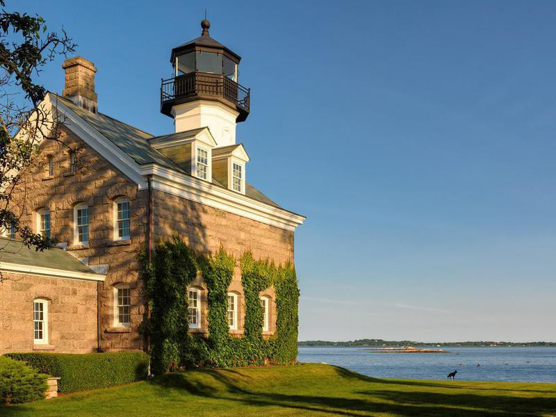Morgan Point Lighthouse in Noank, Connecticut