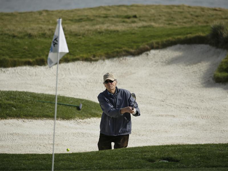 Golfing clint eastwood