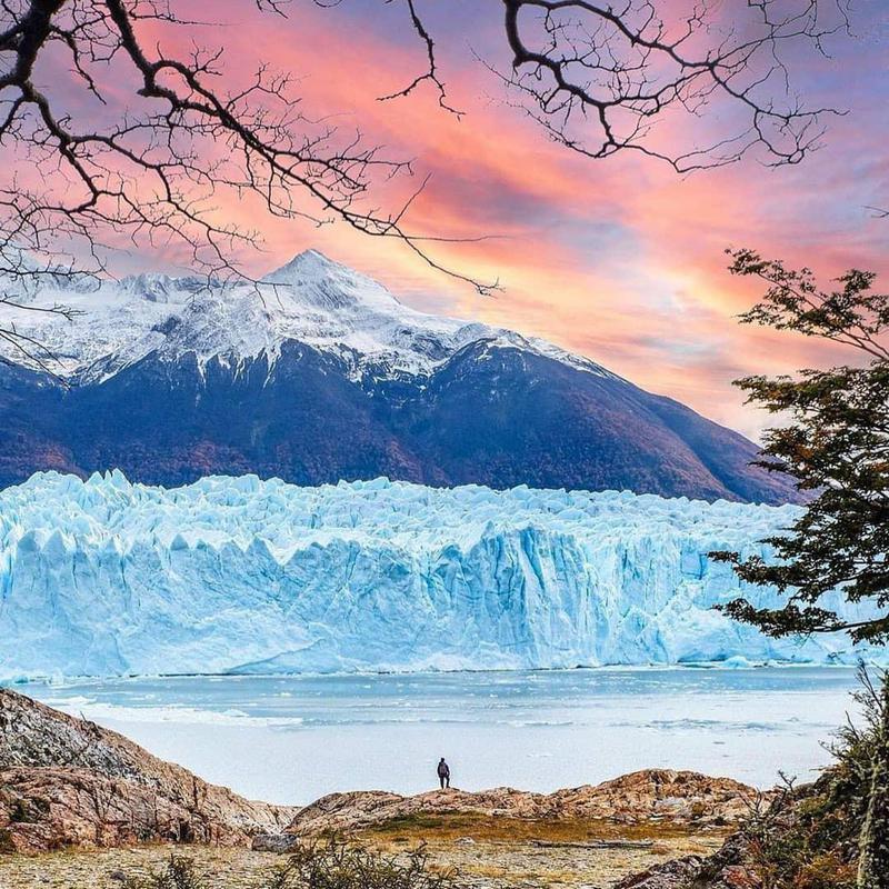 Argentinean Patagonia at sunset