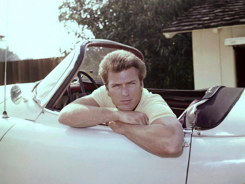 Clint Eastwood, shown here in 1962, was a business administration major in college. He lasted about one year before dropping out to become a full-time actor.