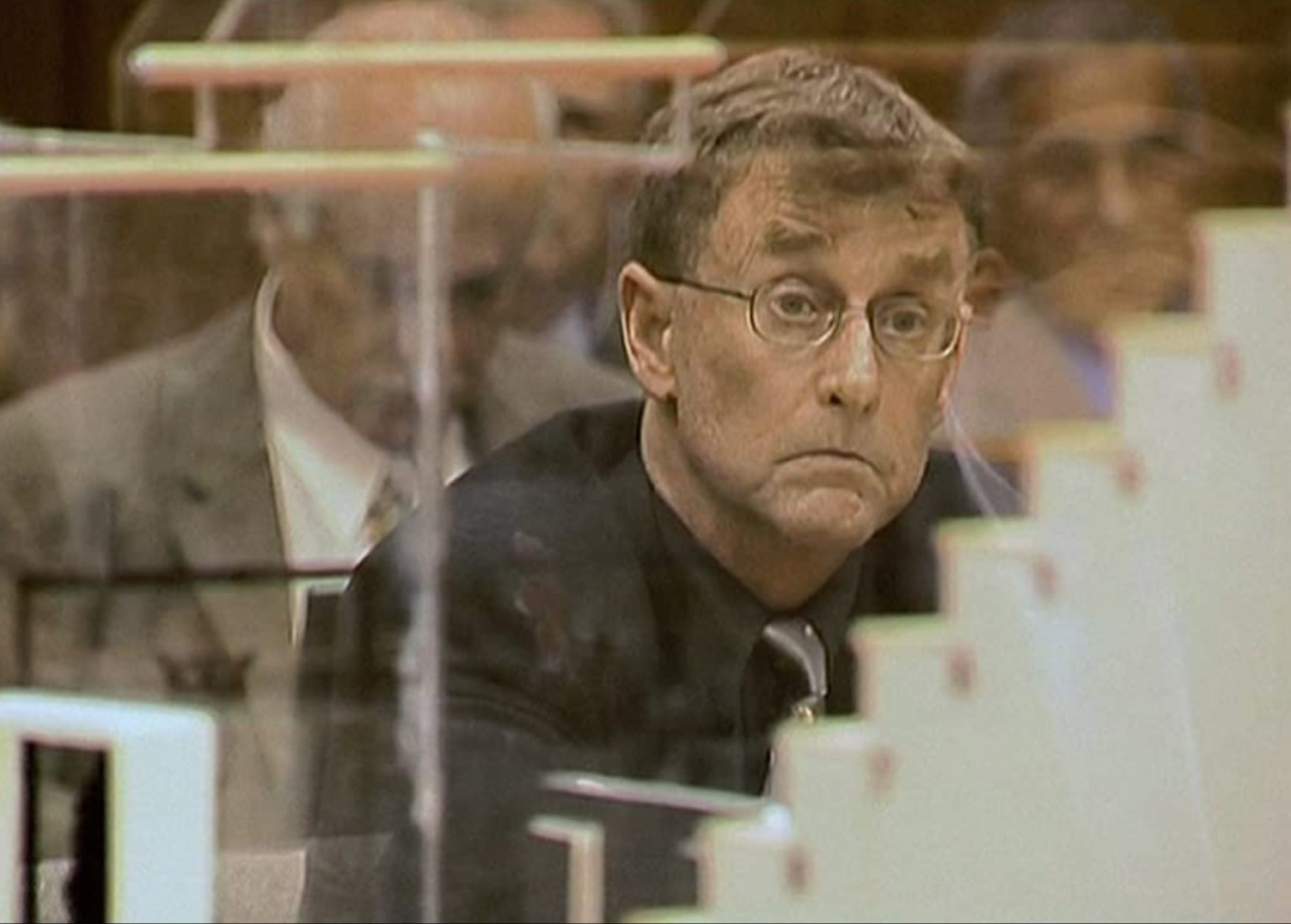 Character on trial from 'The Staircase'