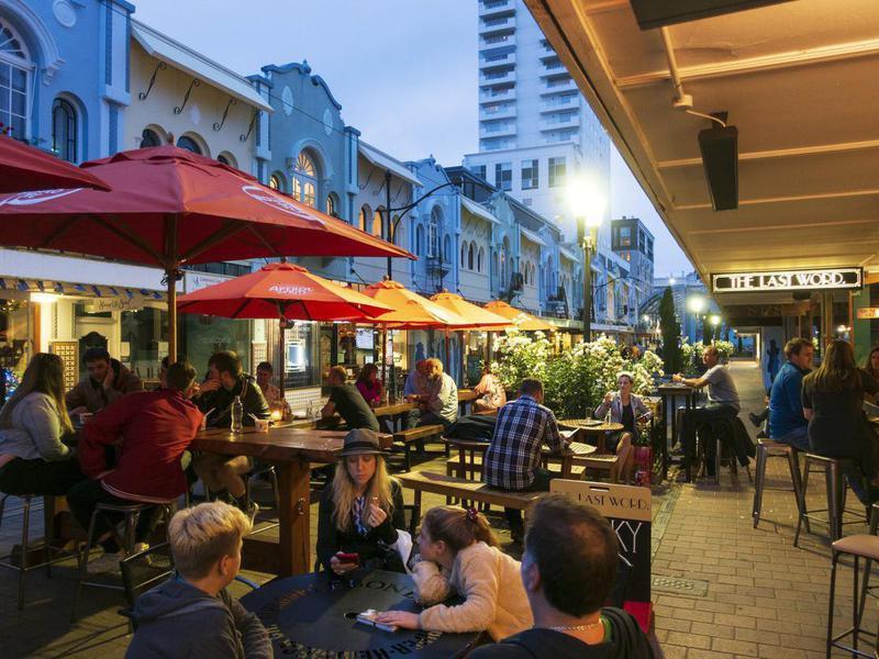 New Regent Street in downtown Christchurch, New Zealand