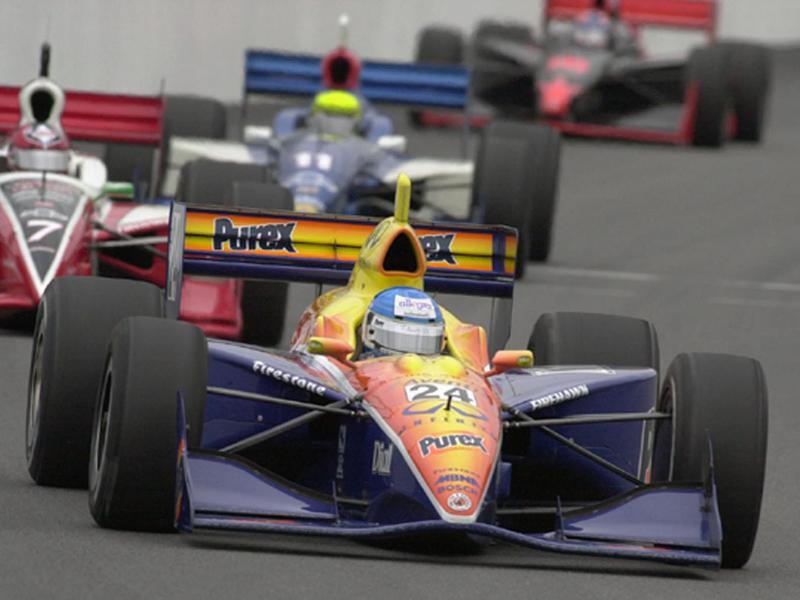 Sarah Fisher races her car