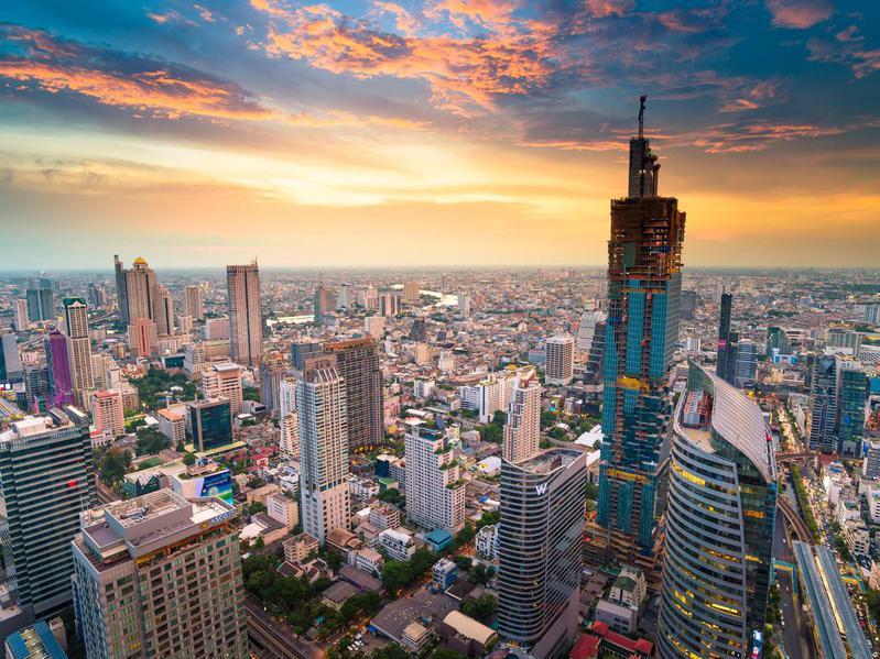 Panoramic view of Bangkok Thailand