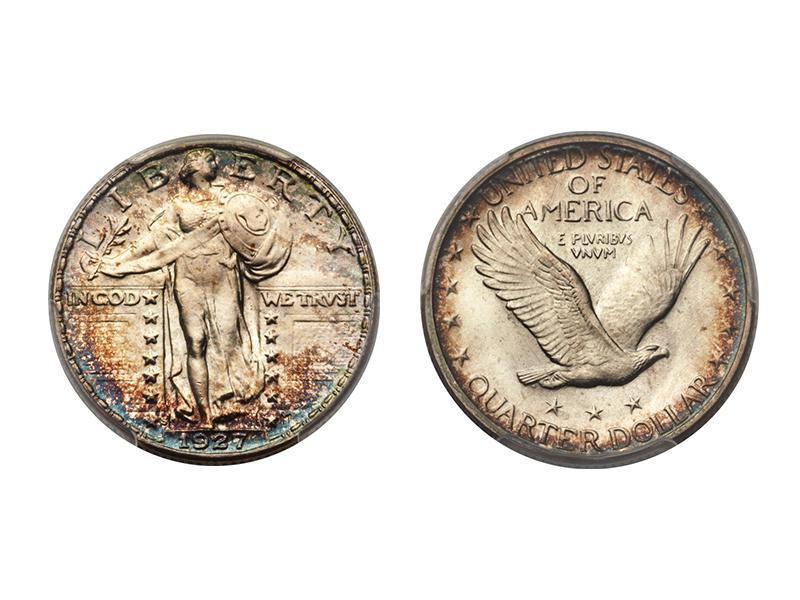 1927-S Full Head Standing Liberty Quarter