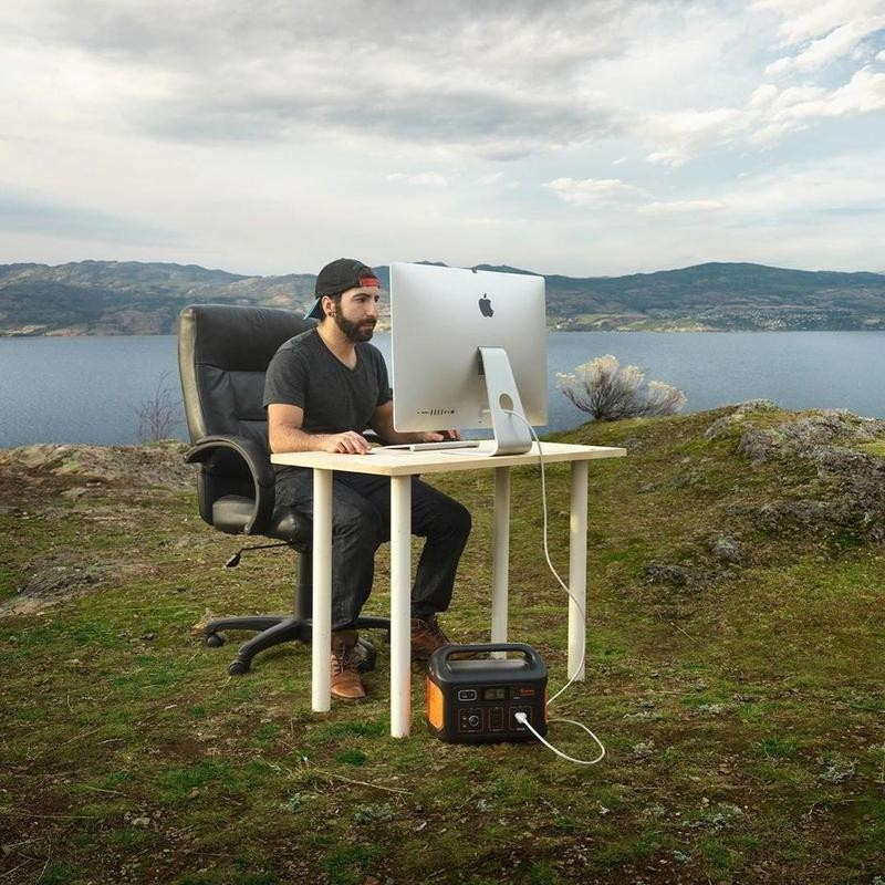 Desk on a hill