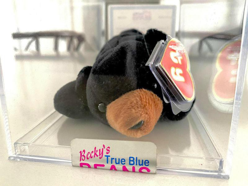 First-Generation Blackie the Bear Beanie Baby