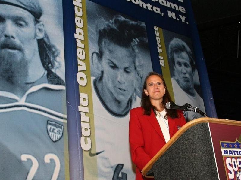 Duke assistant coach Carla Overbeck