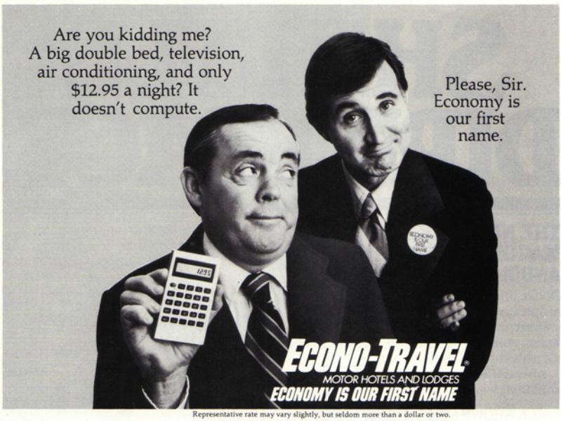 Econo Lodge ad in 1978