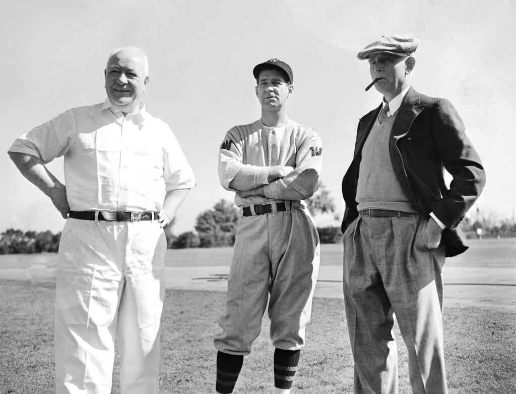 Mike Martin, Bucky Harris, and Clark Griffith