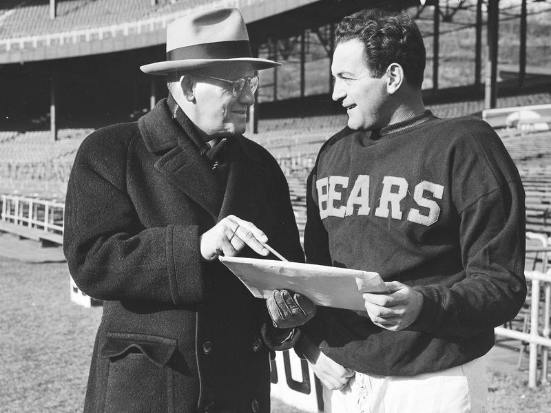 George Halas and Sid Luckman