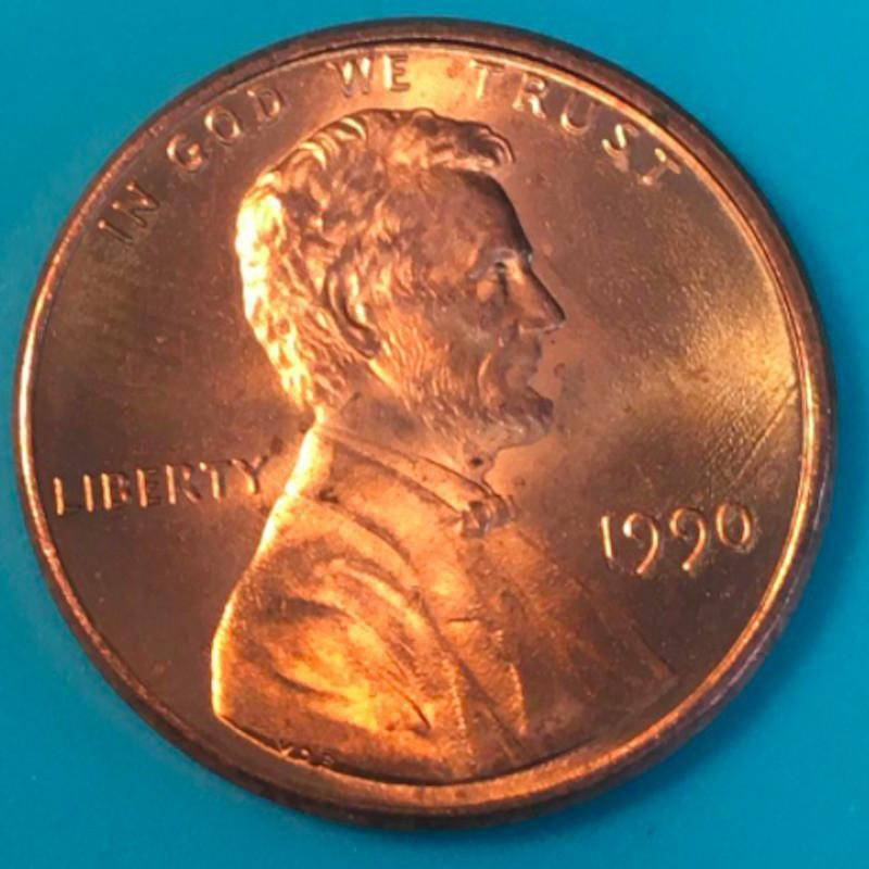 1990 S Lincoln Memorial Cent (No S Mint Mark)