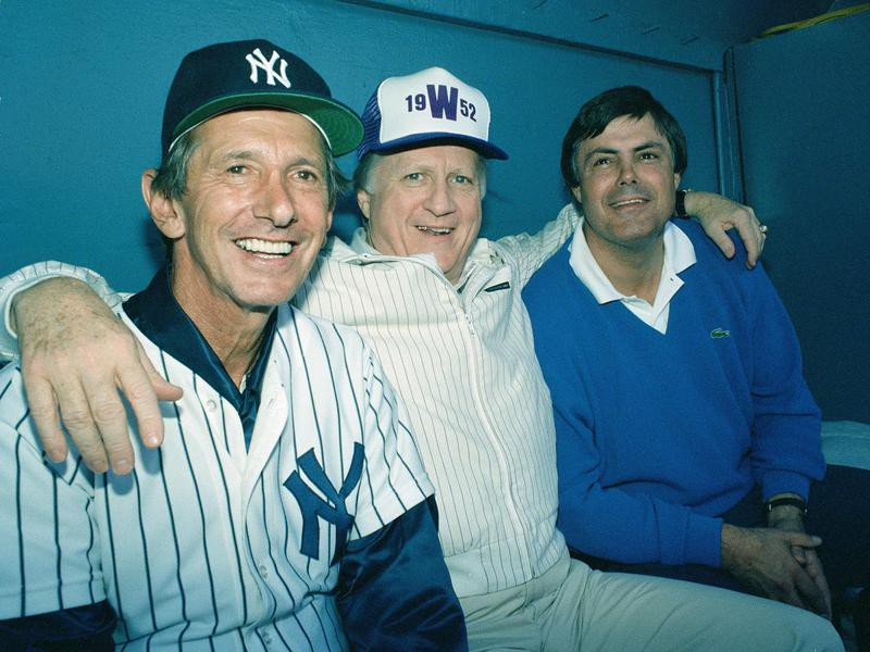 George Steinbrenner with Lou Pinella