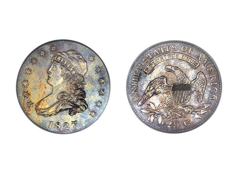 1827/3/2 Capped Bust Quarter