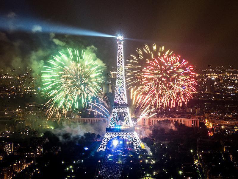 Paris fireworks