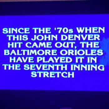 Jeopardy question about Baltimore Orioles