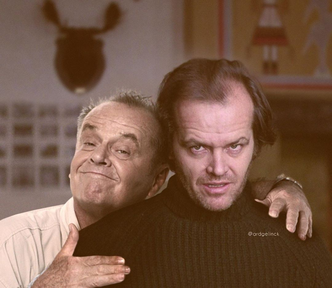 Jack Nicholson and Jack Torrance
