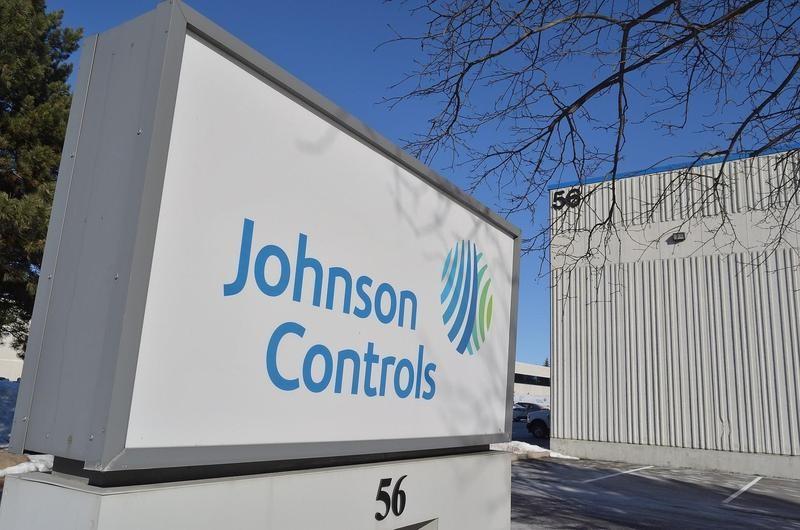 Johnson Controls sign