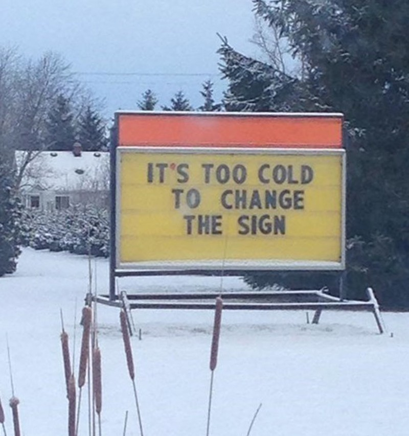 Message on a sign