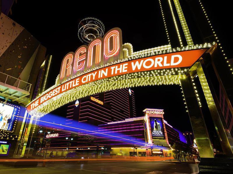 Reno Nevada lights at night