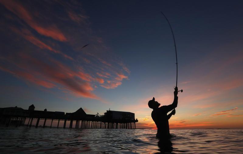 Bass fishing in Maine