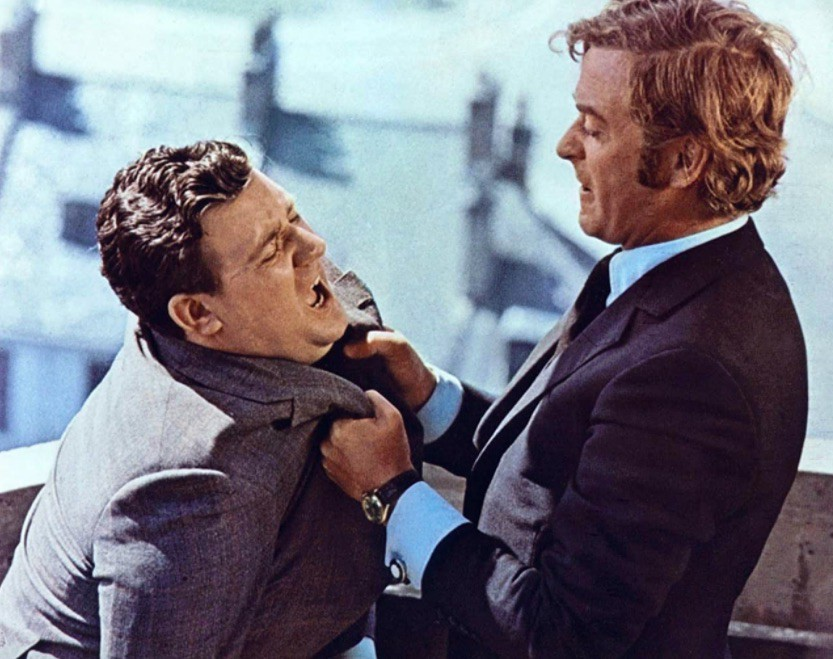 Michael Caine and Bryan Mosley in Get Carter
