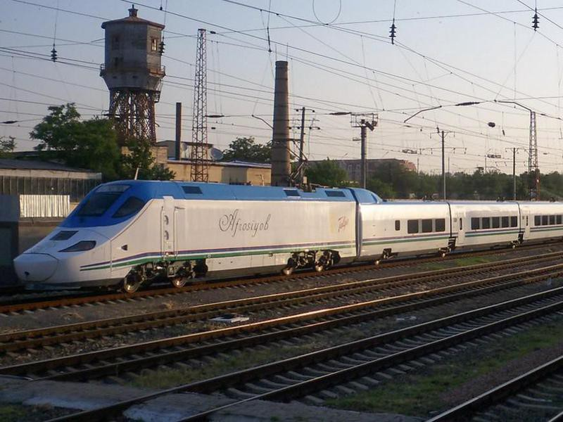 Talgo 250 train in Uzbekistan
