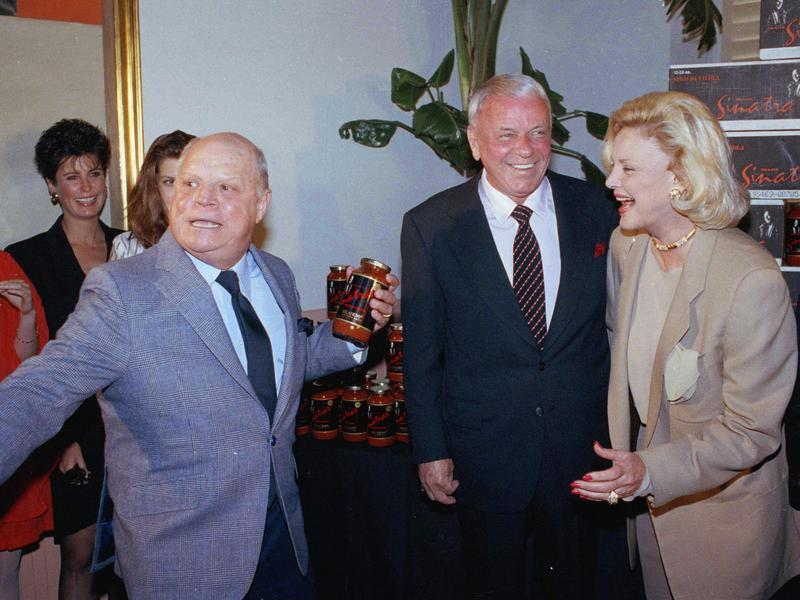 Don Rickles with Frank and Barbara Sinatra