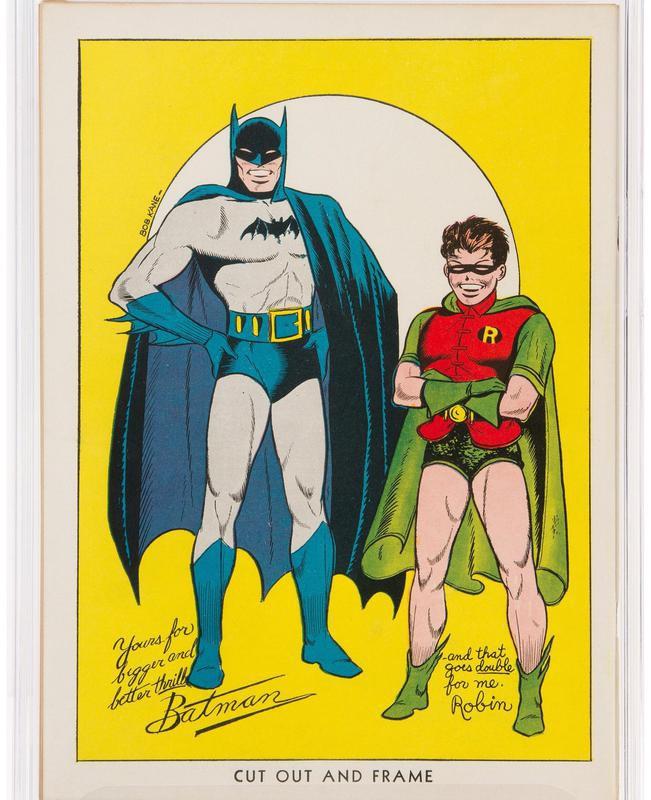 Batman No. 1 back cover